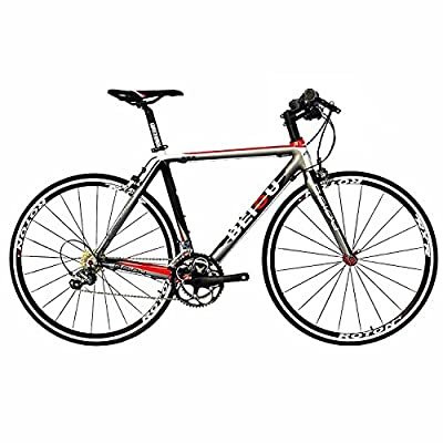 BEIOU Carbon Comfortable Bicycles 700C Road Bike LTWOO 210 Speed SRAM Brake Complete Bike Toray T800 Fiber CB001 custom bike Silver White Red Glossy 540mm 580mm
