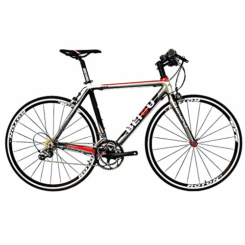 BEIOU Carbon Comfortable Bicycles 700C Road Bike LTWOO 210 Speed SRAM Brake Complete Bike Toray T800 Fiber CB001 custom bike Silver White Red Glossy 540mm 580mm For Sale