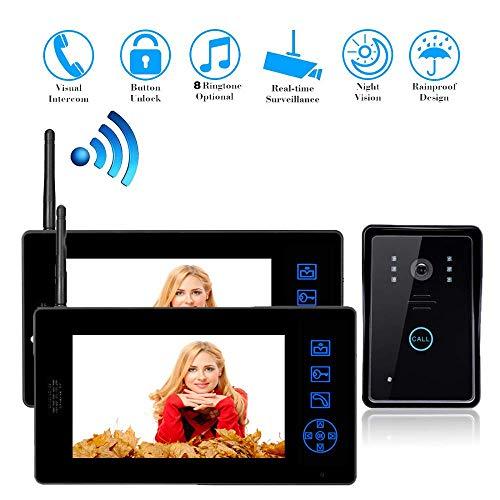 Line 2 Hotel Speakerphone (YUYUKUAILAI Video Doorbell System, Wireless Intercom Doorbell, 7 inch Video Doorbell Access Control System)