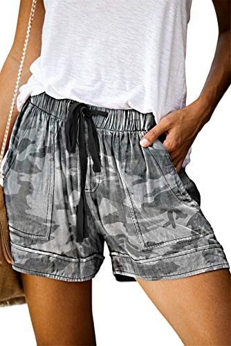 ONLYSHE Womens Casual Drawstring Pocketed Shorts Summer Loose Athletic Sports Short Pants