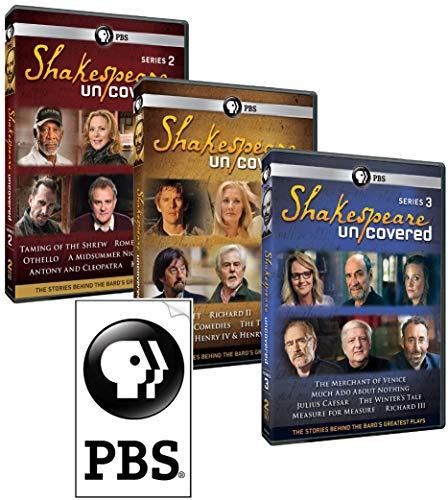 Shakespeare Uncovered Set: Bonus PBS Sticker + Complete DVD Series 1, 2 & 3