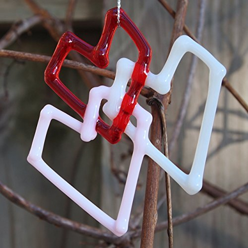 Harmony Ornament (Triple Hearts Entwined Glass Ornament Window Decoration)