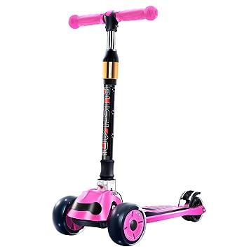 HYE-Patinete Scooter Plegable de 3 Ruedas para niños ...