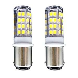 B15 Bombilla[2 unidades]SFTlite SBC Ba15D 4W LED Bombilla Blanco Fresco 6000K–