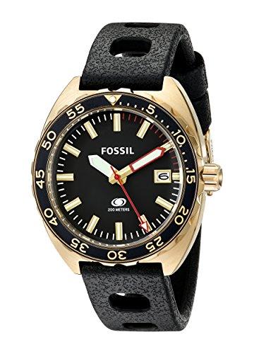 Fossil-Mens-FS5050-Breaker-Analog-Display-Analog-Quartz-Black-Watch