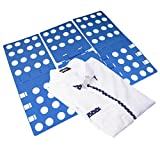 Clothes Tshirts Folder for Adult, Super Fast Laundry Folder Organizer, Top Flip Folding Board, Ideal for Home and Travel, Color Blue (For Adult)