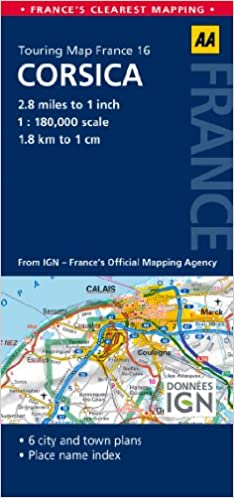 Map Of France And Corsica.Road Map Corsica Road Map France Aa Publishing 9780749575601
