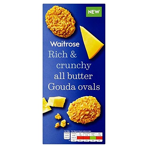 Gouda Cheese Oval Biscuits Waitrose 80g (Cheese Biscuits Best)