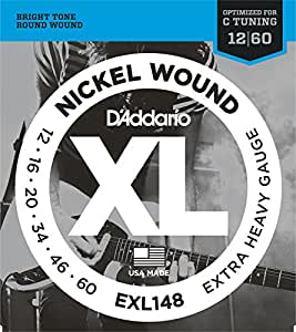 d addario xl nickel wound electric guitar strings extra heavy gauge round wound. Black Bedroom Furniture Sets. Home Design Ideas