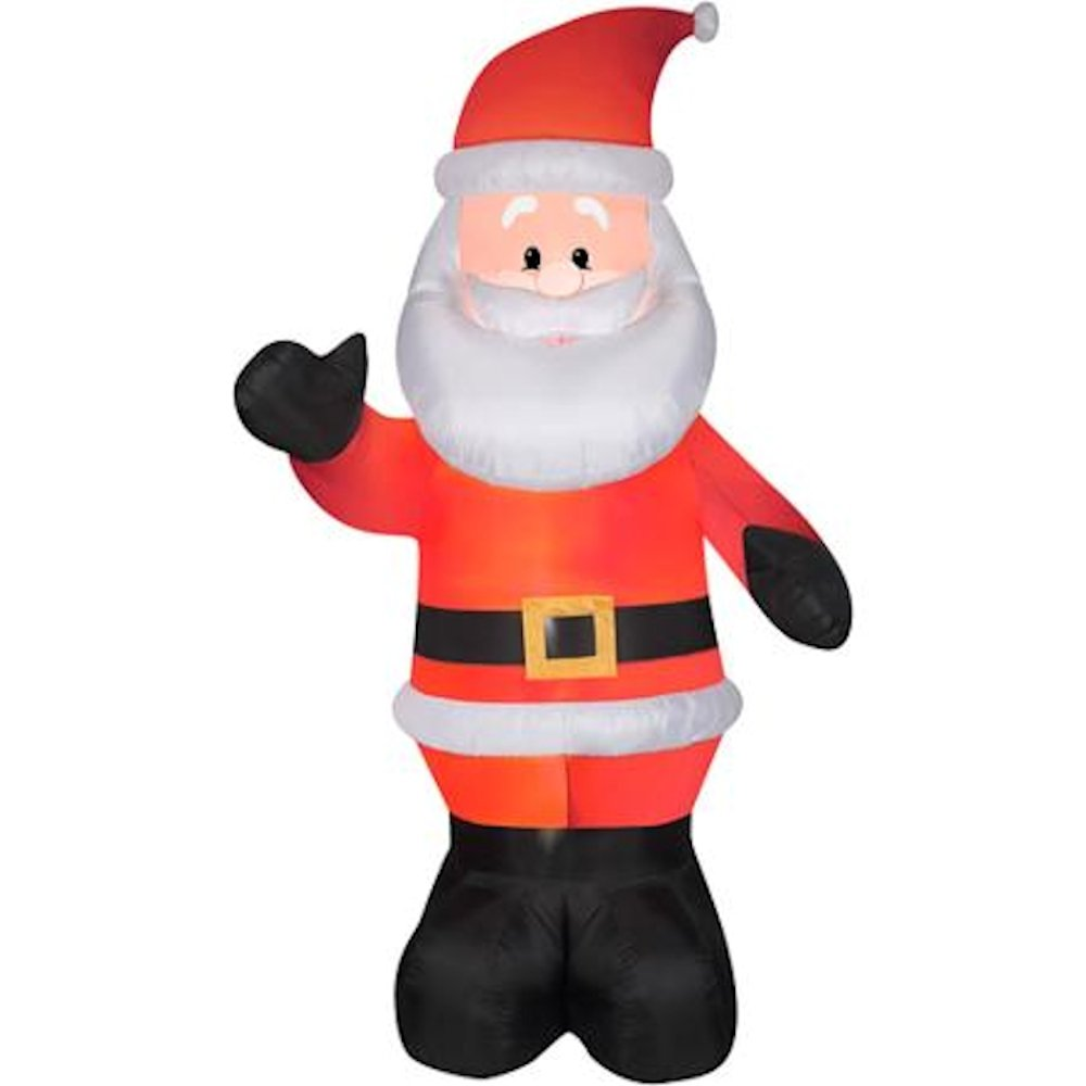 Amazon.com: 10 ft Tall Waving Santa Clause Christmas Inflatable ...