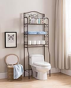 kings brand over the toilet storage etagere bathroom rack shelves organizer kitchen. Black Bedroom Furniture Sets. Home Design Ideas