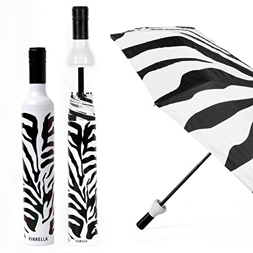 - VINRELLA Wine Bottle Umbrella - Zebra (131-A)