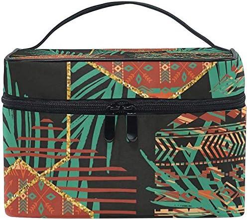Patrón étnico Tribal con Bolsa de cosméticos geométrica Bolsas de tocador Maquillaje de Viaje Organizador Grande Estuche multifunción portátil para Mujeres Niñas: Amazon.es: Equipaje