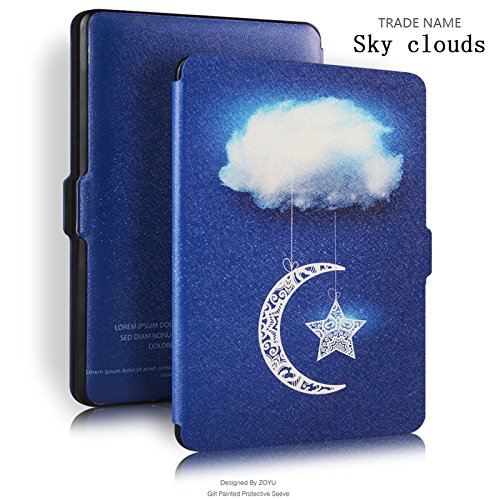 Kindle Paperwhite 1 2 3 Case E-book Cover 2017 Magnetic PU Leather Smart Case for Kindle Paperwhite (Sky clouds) by scanbell