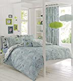 Dreams & Drapes Aviana Duvet Cover Set includes 1 Double Duvet Cover and 2 Pillow Cases, Duck Egg, Double by Dreams & Drapes