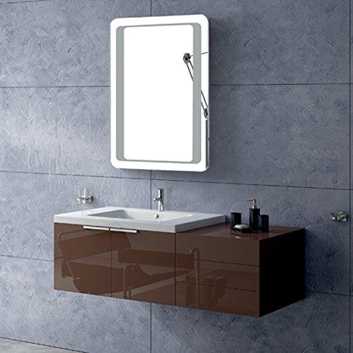 LED Mirrors Summit Home Standard Horizon Battery Powered 500mm x 700mm Illuminated LED Bathroom Mirror Light