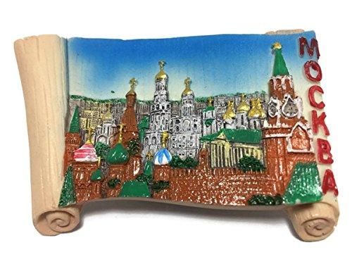 Mockba Moscow Russia Souvenir Collection 3D Fridge Refrigerator Magnet Hand Made Resin by Mr_air_thai_Magnet_World