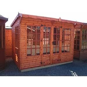 TGB 12ft x 8ft (3.65m x 2.43m) Loglap Pavilion Summerhouse