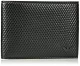 Armani Jeans Men's Bifold Wallet Embossed With Minimal Logo