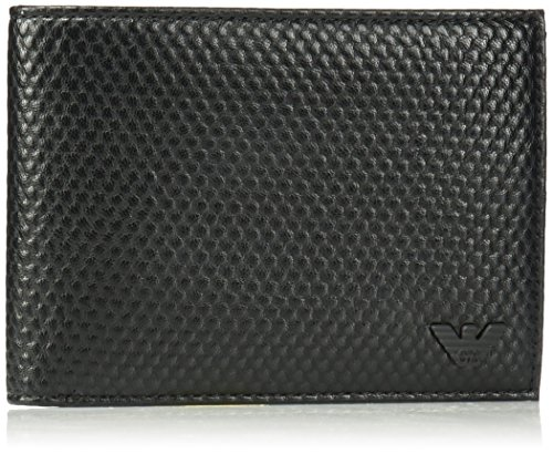 Armani Jeans Men's Bifold Wallet Embossed With Minimal - Armani Store