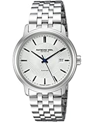 Raymond Weil Mens Maestro Swiss Stainless Steel Automatic Watch, Color:Silver-Toned (Model: 2237-ST-65001)