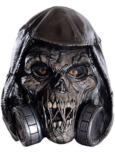 (Rubie's Men's Arkham Knight Scarecrow Deluxe Latex Mask, Black, One)