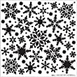 Bulk Buy: Hot Off The Press (3-Pack) Stencils 6\'X6\' All Over Snowflakes HOP-ST-9245