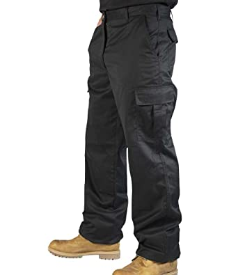 Mens Combat Cargo Work Trousers Size 30 To 52 With Knee Pad Pockets