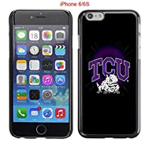 iPhone 6 6S Case,Tcu Horned Frogs Texas Christian 7 Drop Protection Never Fade Anti Slip Scratchproof Black Hard Plastic Case 4.7 inch
