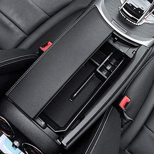 Plateau de Rangement Classe W205 2015 Bo?Te de Rangement WOVELOT Voiture Console Centrale Accoudoir Accessoires de Rangement pour Mercedes C Glc Bo?Te de Rangement