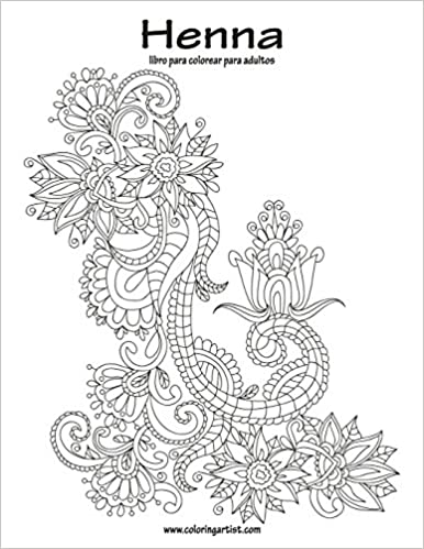 Amazon.com: Henna libro para colorear para adultos 1 (Volume 1 ...