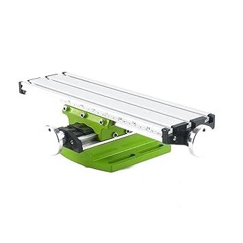 PetHot Fresadora de Mesa de trabajo compuesto Diapositiva cruzada Multifunción fresado de trabajo Mesa Fresadora ligero de perforación mesa mesa de ...