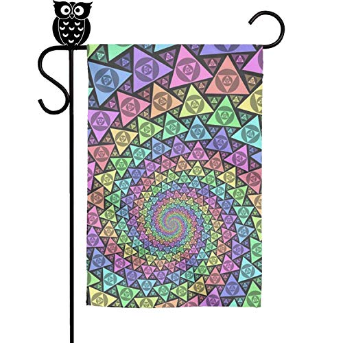 Foursquare House - FLYYYY Colorful Triangular Swirl Garden Flag-Single Sided Polyester House Banner Weather Resistant Christmas Flags 1218Inch