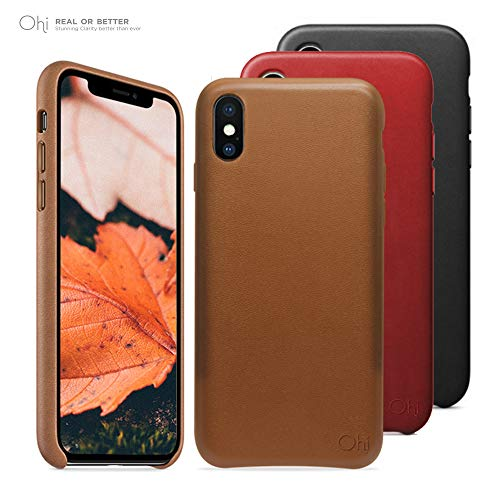 iPhone X Premium Leather Case, Original Style, Soft Feeling, Ultra Slim Type Synthetic Leather Case Shock Resistance Protective for iPhone X - Black