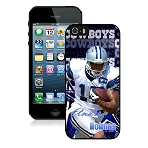 NFL&Dallas Cowboys-Andre Holmes iPhone 5 5S Case Gift Holiday Christmas Gifts cell phone cases clear phone cases protectivefashion cell phone cases HLNKY605582583