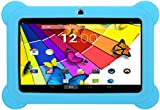 KOCASO [7 INCH] Quad Core Android 4.4 KitKat Kids HD Tablet PC- 8GB Storage W/ 32GB Expandable Memory, 1GB RAM, 1024x600, Dual Camera, WiFi/Bluetooth, Micro USB/SD Card Slot/FREE ACCESSORIES- Blue