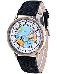 Womens Map Watch,COOKI Unique Quartz Analog Fashion Clearance Lady Watches Female watches on Sale
