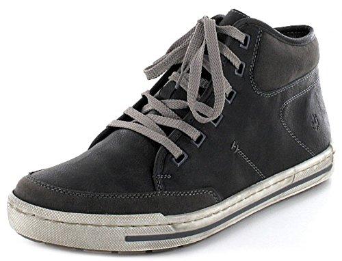 Rieker 38413-26 38413-26 - Botas de cuero para hombre gris