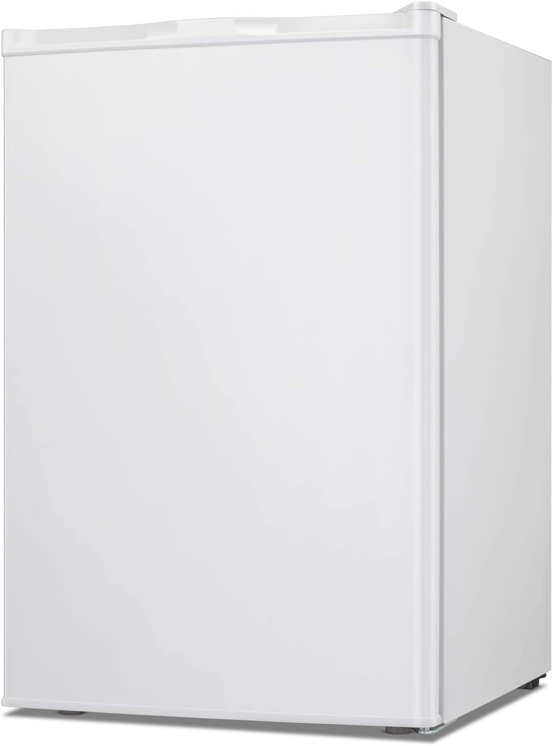 TAVATA Compact Upright Freezer Single Door Reversible Stainless Steel Door, Compact Adjustable Removable Shelves for Home Office (White, 3.0 cu.ft)