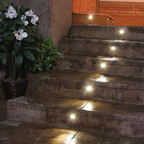 Indoor LED Recessed Stair Light / Step Light / Riser Light Kit - 8 LED Lights - Oil Rubbed Bronze by DEKOR (Image #3)