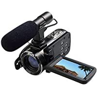 Ordro Full HD Digital Video Camera with External MIC, Model HDV-Z20 (Includes 8GB SD Card as a Free Bonus!) - Digital Camcorder with Professional Camera Mounted Shotgun Boom Microphone by Tiangtech