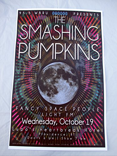 2011 Smashing Pumpkins Providence Concert Poster Fancy Space People
