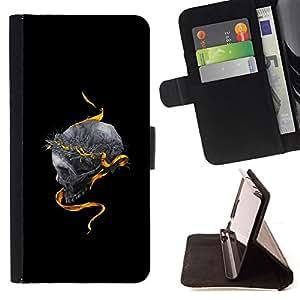 BLACK GOLD DEEP SKULL SNAKE KING MEANING/ Personalizada del estilo del dise???¡Ào de la PU Caso de encargo del cuero del tir????n del soporte d - Cao - For Apple Iphone 5 / 5S