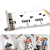 Jiaoly Children Height Ruler Baby Height Growth Chart Creative Minimalist Wood Frame Canvas Hanging Ruler Home Decoration 20*200CM (C)