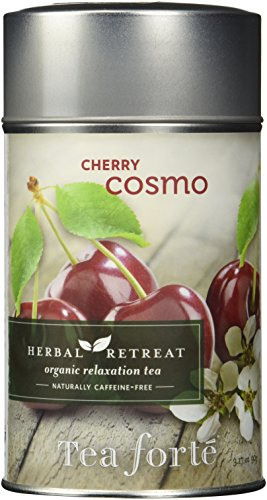 Tea Forte Herbal Retreat CHERRY COSMO Loose Leaf Organic Herbal Tea 3.17 Ounce Tea Tin (50 Cherry Blossom)