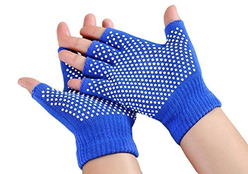 Zaptex Soft Yoga Gloves Non Slip Fingerless Design Pack of 2