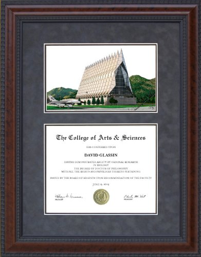 Amazoncom Diploma Frame With Us Air Force Academy Usaf Campus