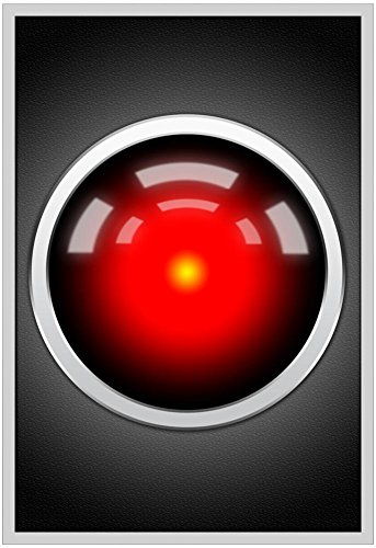 Hal 9000 Camera Eye Screen Movie Poster 13 x 19in with Poster (Hal Computer Movie)