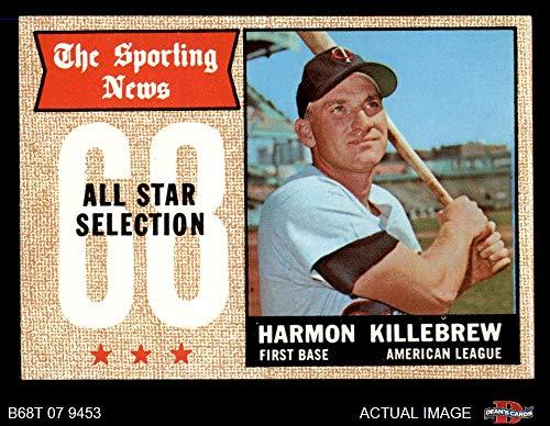 1968 Topps # 361 All-Star Harmon Killebrew Minnesota Twins (Baseball Card) Dean's Cards 6 - EX/MT Twins
