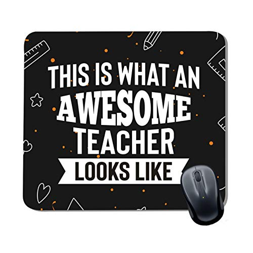 Family Shoping Teachers Day Gifts Awesome Teacher Looks Like Printed Mousepad for Computer System Pc Accessories